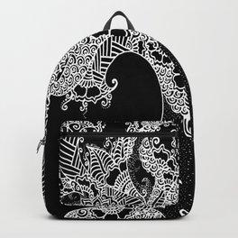 Unity of Halves - Life Tree - Rebirth - Black Backpack