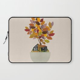 Plant Pot Cabin in Autumn Laptop Sleeve