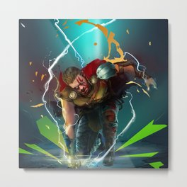 God of Thunder Metal Print