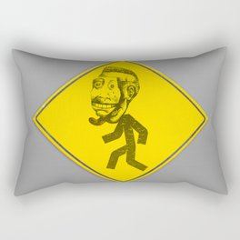 Mask man crossing Rectangular Pillow
