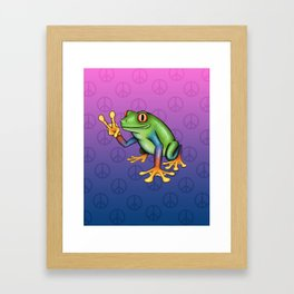 Peace Frog Framed Art Print