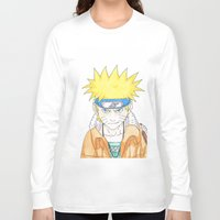 naruto Long Sleeve T-shirts featuring Naruto Uzumaki by rosalia