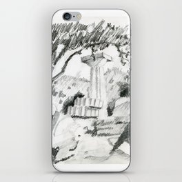 Old ruins of doric temple iPhone Skin