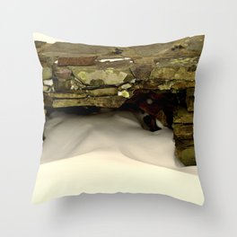 Wall of Snow Throw Pillow