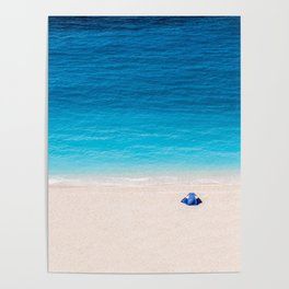 Alone On The Beach Poster