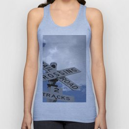 Railroad Crossing Sign Unisex Tank Top