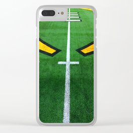 Rugby playing field Clear iPhone Case