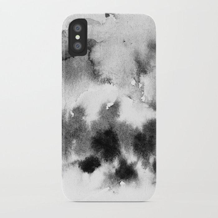 MINIMAL BLACK AND WHITE SPLATTER PATTERN iPhone Case