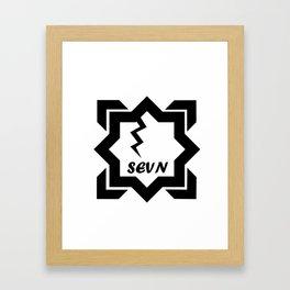 Sevn squared Framed Art Print