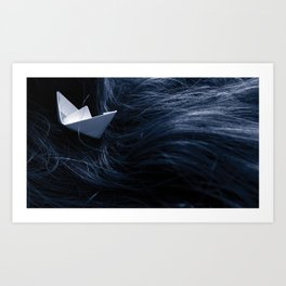 On troubled waters Art Print