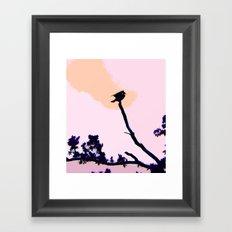 Cormorant at Dusk Framed Art Print