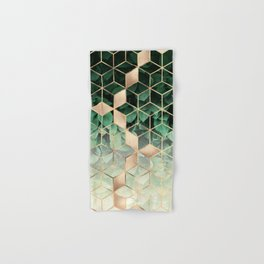 Leaves And Cubes Hand & Bath Towel