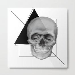 Skull and Geometry Metal Print