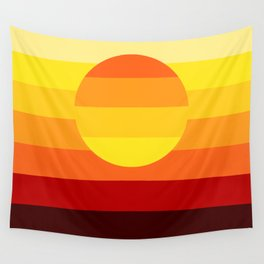 Sunset Stripe Wall Tapestry