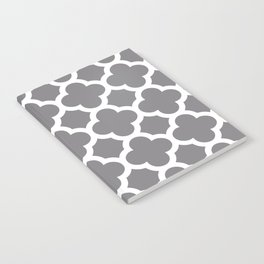 Gray Quatrefoil Notebook