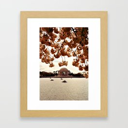 Washington Monument in Bloom Framed Art Print