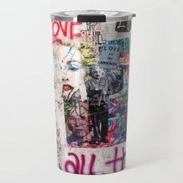 Tel Aviv Street Art / Love is the answer Travel Mug