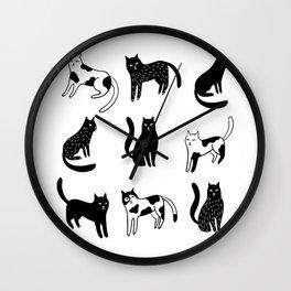 Cats print Wall Clock