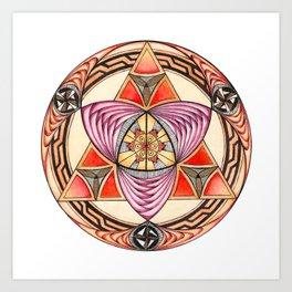 Pyramid Mandala Art Print