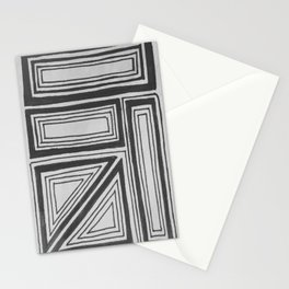 Geometric squares Stationery Cards