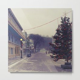 Christmas tree street Metal Print