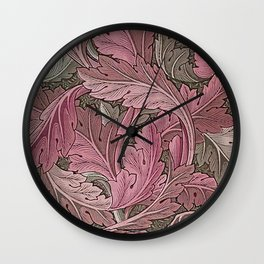 Acanthus Red Grey Wall Clock