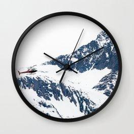 Frozen copter Wall Clock