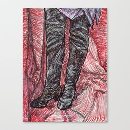 Suede Thigh Highs Canvas Print