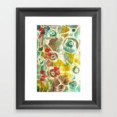 Peeking Trees Framed Art Print