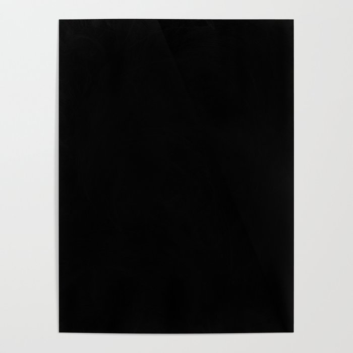 Dark Pitch Black Solid Color Poster by kirstiepaige | Society6