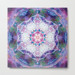 Mandalas from the Depth of Love 7 Metal Print