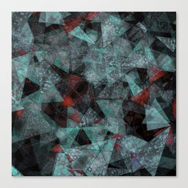 Triangle chaos Blood snowflakes Canvas Print