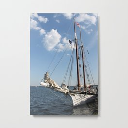 "Sailboat ""Tall Ship Manitou"" Metal Print"