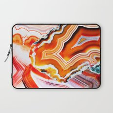 The Vivid Imagination of Nature, Layers of Agate Laptop Sleeve