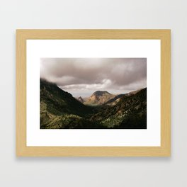 Mountain View in Big Bend National Park Framed Art Print