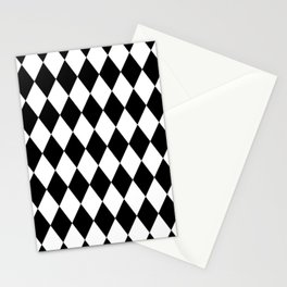 Black and White Liquorice Pattern Stationery Cards