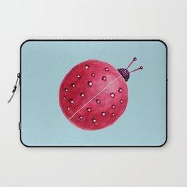 Spherical Abstract Watercolor Ladybug Laptop Sleeve