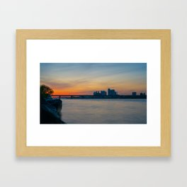 Nights on the Han River Framed Art Print