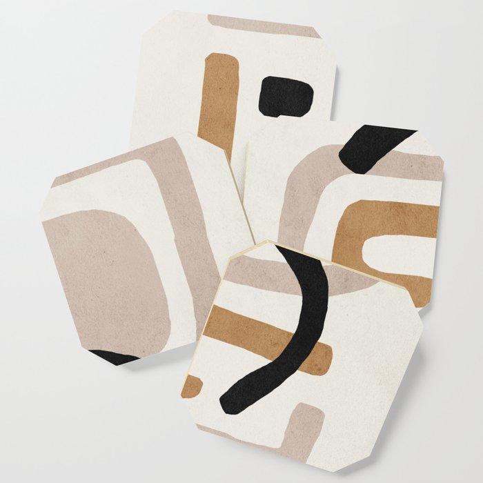 Abstract shapes art, Mid century modern art Coaster