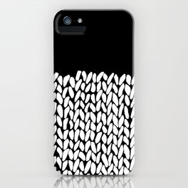 Half Knit  Black iPhone Case