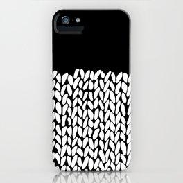 Half Knit  Black iPhone Case