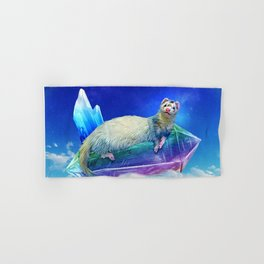 Ferret in the Sky with Crystals Hand & Bath Towel