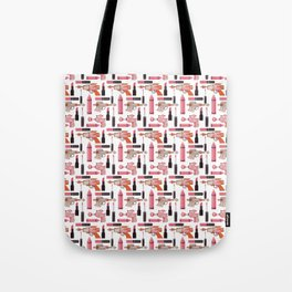 Lipsticks and Laserguns Tote Bag