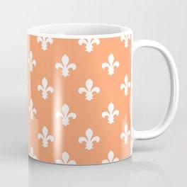 Peach Southern Cottage Fleur de Lys Coffee Mug