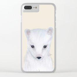 little arctic fox Clear iPhone Case