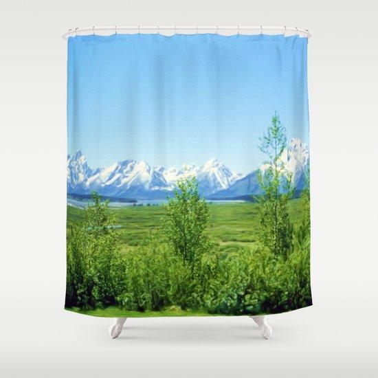 Spring Tetons Shower Curtain