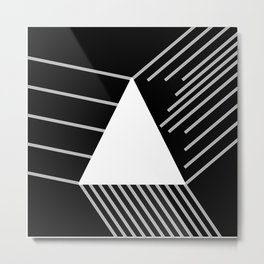 Abstraction 030 - Minimal Geometric Triangle Metal Print