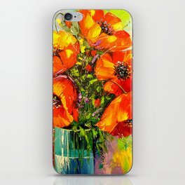 Bouquet of poppies iPhone Skin