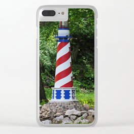 Patriotic Lighthouse- horizontal Clear iPhone Case
