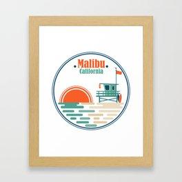 Malibu, California Framed Art Print